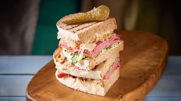 Pastrami sandwich at the Terrace restaurant