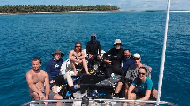 Coral reef team 2016 in BIOT