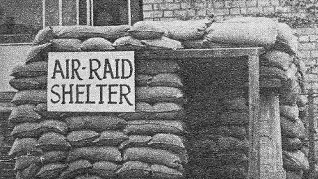 An air raid shelter build in ZSL London Zoo next to the 'rodent house'.