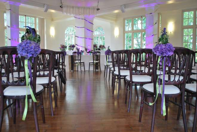 Mappin Pavillion set for a wedding. Venue Hire at ZSL London Zoo