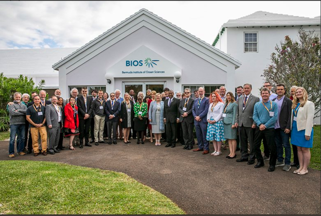 2019 Mar. SSC group photo. BIOS, Bermuda. Sargasso Sea Commission Twitter photo.png